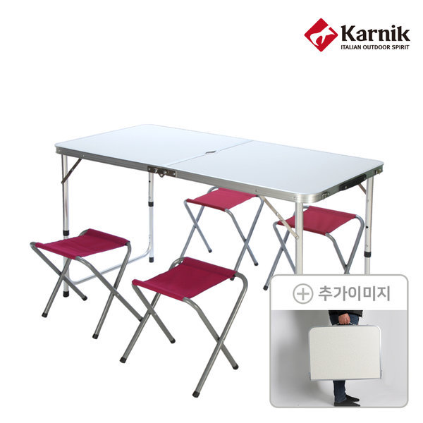 캠핑 폴딩테이블 야외테이블 CT-001(화이트)+의자4개