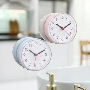 [무아스] 2WAY  무소음 방수 욕실시계
