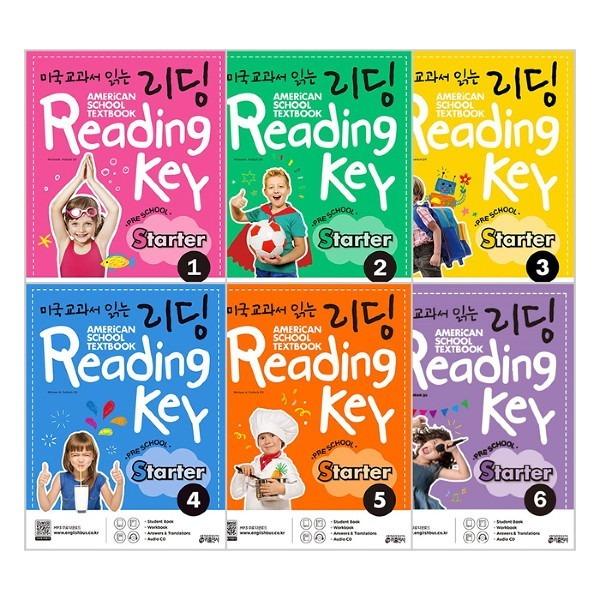 키출판사  미국교과서 읽는 리딩 Reading Key Preschool Starter 1-6권 세트(전6권)