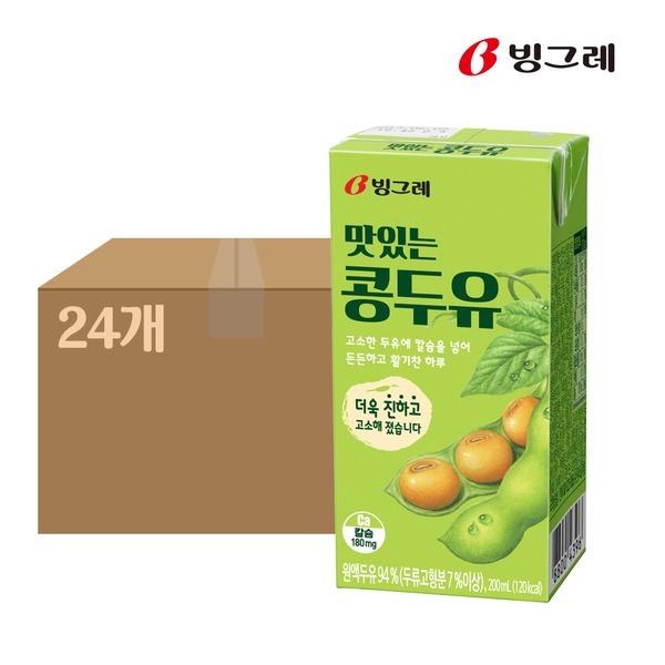 맛있는 콩두유 200mlx24팩 1박스 멸균두유 상온두유