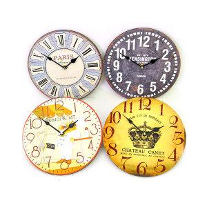 헤니스 벽시계 저소음 모던디자인 엔틱 벽걸이 시계