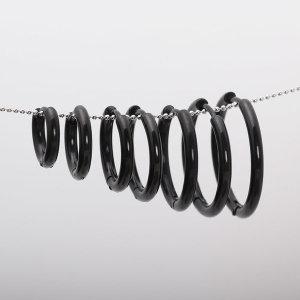블랙-낱개 써지컬스틸 귀걸이 원터치 링귀걸이