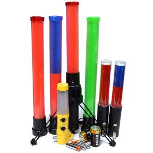 (케미칼멘토) LED 경광봉 54cm  레드/형광/투톤