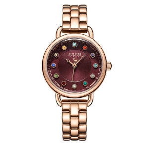 쥴리어스 탄생석시계 여성 메탈 손목시계 JA-1088