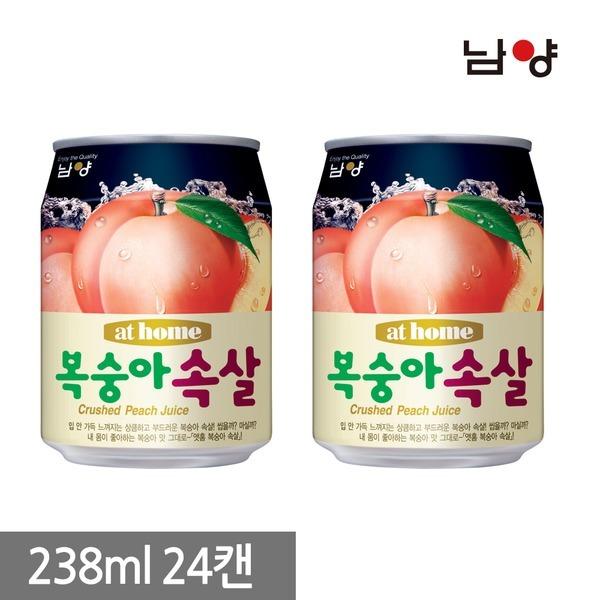 앳홈 복숭아 속살 238ml 24캔