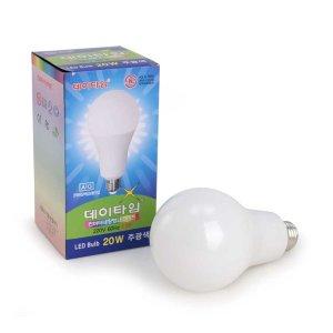 데이타임 LED전구 20W 주광색 (하얀빛-6500K) KS인증