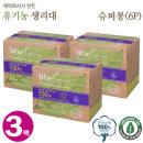 와우 프리미엄 유기농 생리대 슈퍼롱(6P) 3팩 무료배송