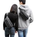 남자 슬링백 힙색 학생 여행용 방수 옆으로매는 가방