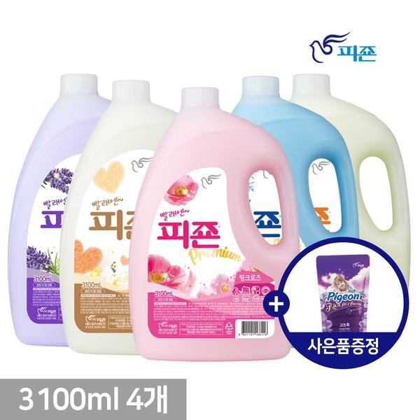피죤 섬유유연제 3100ml 4개 +사은품
