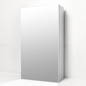 전면 거울(여닫이) 누드 욕실 수납장400x800x170