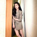 여성 자켓 오버핏 체크 재킷 마이 가디건 코트 DF36