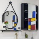 전면 거울(미닫이) 슬라이드 욕실 수납장 600x800x170