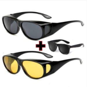 안경위에 쓰는 UV차단 편광 선글라스 안경 1+1핀홀증정