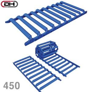 접이식 ABS 롤러 컨베이어 DRCU450/폭450 레일 운반기