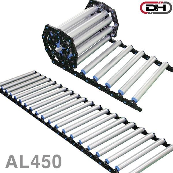 접이식 AL롤러 컨베이어 DRAL450/폭450 레일 운반기