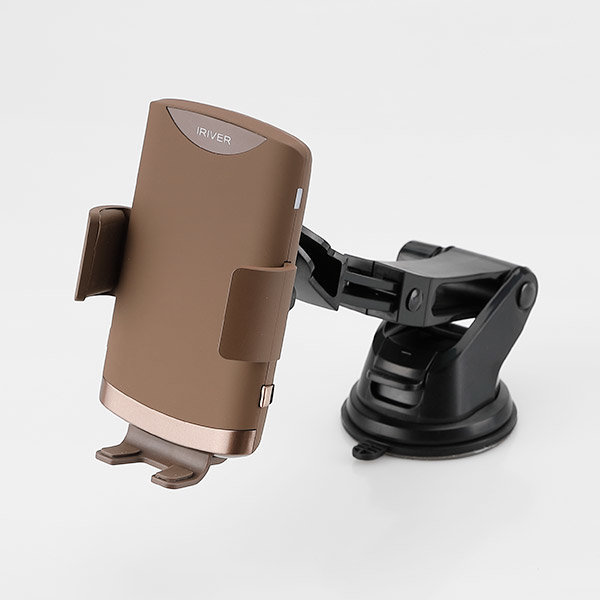 전자동 고속 무선 충전 FOD 거치대 ICR-A200 브라운