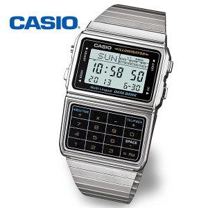 정품  CASIO 카시오 DBC-611-1D 데이터뱅크 계산기 메탈시계