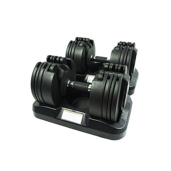 플러그피트니스 트위스트락 무게조절덤벨 20kgX2 하나의 덤벨로 16단계의 무게조절가능