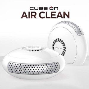 큐브온 저소음 휴대용 공기청정기 1000W 화이트 소형