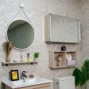 전면 거울(미닫이) 슬라이드 욕실 수납장 800x500x170