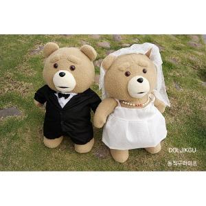19곰 테드 인형 TED 신랑 신부 2종세트 신혼부부선물