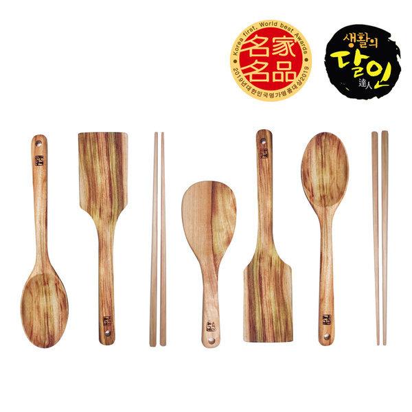 캄포나무 나무 조리 도구 볶음 주걱 뒤집개 수공예
