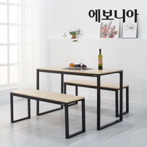 토리노 테이블 벤치의자 식탁세트/테이블+의자포함