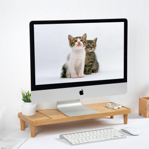 컴퓨터모니터받침대 대나무받침대 유형1