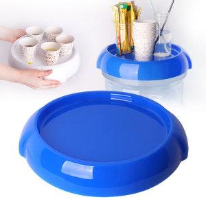 생수통 냉온수기 정리 수납 선반 덮개 미니쉘프 (블루)
