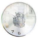 황금부엉이 벽시계 RX실버 인테리어 벽걸이시계 (특가)