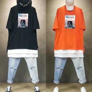 빠숑 오버핏 자동차 반팔티/오버핏반팔티/티셔츠