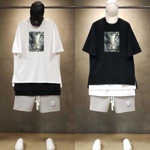 빠숑 오버핏 재규어 반팔티/오버핏반팔티/티셔츠