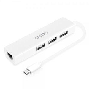엑토 C타입 USB 랜 어댑터 3포트 허브 콤보 HUBL-04