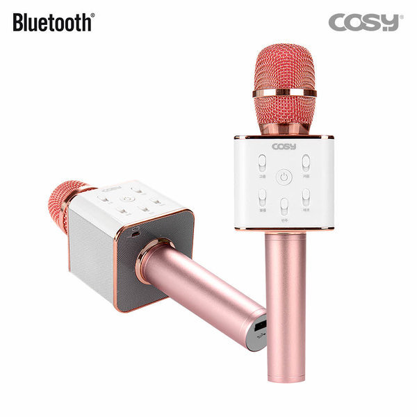 블루투스 휴대용 무선마이크 스피커 SP3171MKBT/핑크
