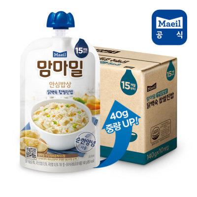 [매일우유] 맘마밀 안심밥상 닭백숙찹쌀 140g 10팩