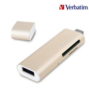 타입C OTG 카드리더+USB 3.0 허브 SD 카드리더기