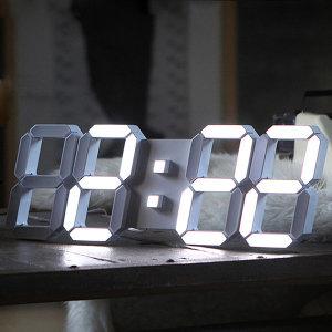 루나리스 3D LED 벽시계 쿨화이트 인테리어소품