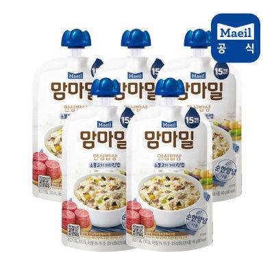 [매일우유] 맘마밀 안심밥상 소불고기가지 140g 5팩