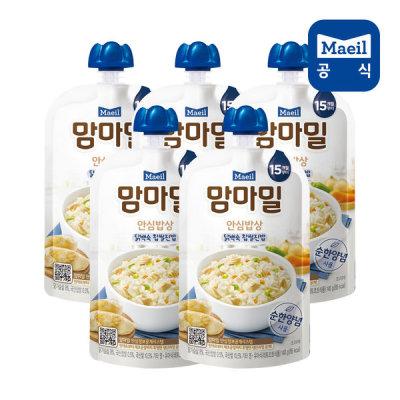[매일우유] 맘마밀 안심밥상 닭백숙찹쌀 140g 5팩