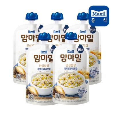[매일우유] 맘마밀 안심밥상 전복모듬채소 140g 5팩