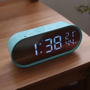 LED 팝 미러클락 빅사이즈 탁상 시계 민트블루