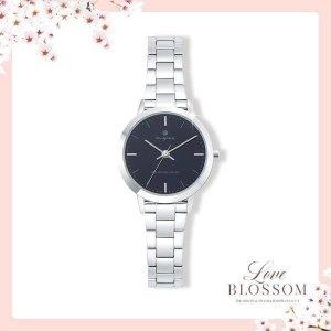(신세계김해점) Love Blossom  심플 모던 블랙 여성용 커플메탈시계 OTC219402TBS