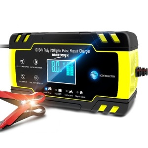자동차 배터리 충전기 과열 방전 방지 LCD 12V