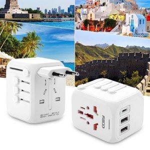 전세계 해외 여행용 PD 고속충전 멀티 어댑터 플러그