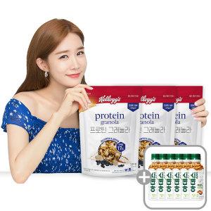 프로틴 그래놀라 미숫가루큐브 검정약콩3봉지+6병