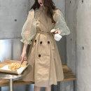 대박난박양 시스루 벌룬소매 트렌치코트/데일리룩