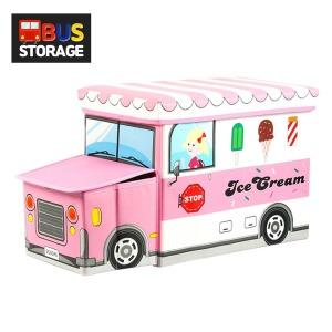 장난감정리함 핑크트럭 /버스정리함 수납함 수납의자