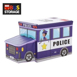 장난감정리함 경찰차 퍼플/버스정리함 수납함 수납의자