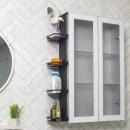 욕실 알루미늄 정리 선반 접착식 무타공 간편설치