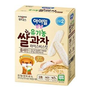 후디스 아이밀냠냠 유기농쌀과자 라이스비스킷 플레인 30g(1포(2입) 6봉)